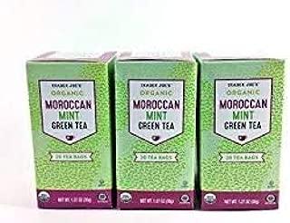 Trader Joe's Organic Moroccan MINT Green Tea 1.27 oz (Case of 3)