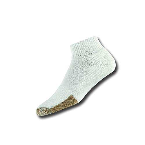 Thorlos Unisex TMX Tennis Thick Padded Ankle Sock, Large, White Tan