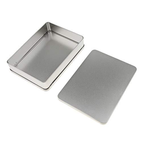 B Blesiya Rectangle Mini boîte en Métal Conteneurs Boîte de Rangement avec Couvercle pour Articles