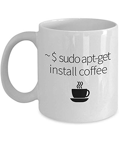 Installieren Sie Coffee-Funny Linux Coffee Mug Gift,Weiß,11 oz
