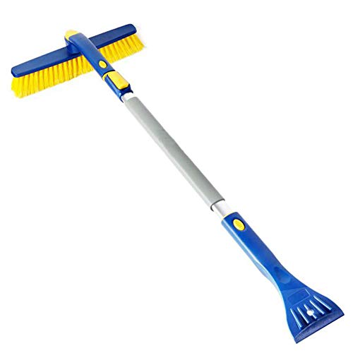 Check Out This Multifunctional Snow Brush, Snow Melon with Ice Scraper, Retractable Comfortable Hand...