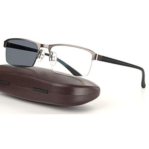 JACKJO Leesbril, slimme overgang fotochrome progressieve zonnebril, roestvrij staal veer connectoren, zonne-kaartlezer, mannen/vrouwen