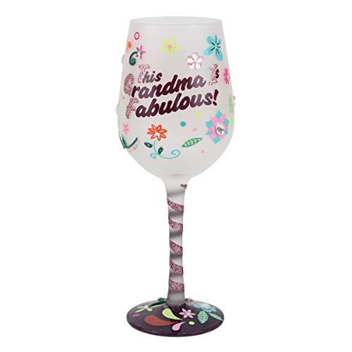 """This Grandma is Fabulous"" Wine Glass"