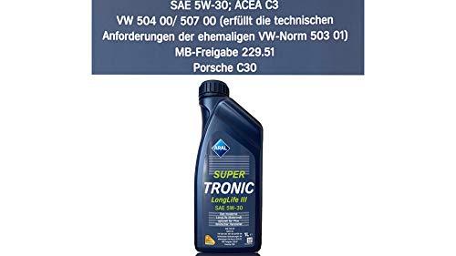 ARAL SuperTronic Longlife III 5W-30 1x1 Liter Super Tronic Motor-Öl Motoren-Öl