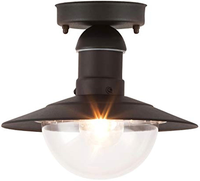 Oslo Auendeckenleuchte leuchtenladen klassisch Metall Kunststoff schwarz Auenleuchte Deckenlampe Auenlampe E27 60W