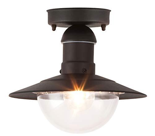 Oslo buitenplafondlamp lichtladen klassiek metaal/kunststof zwart buitenlamp plafondlamp buitenlamp E27 60W
