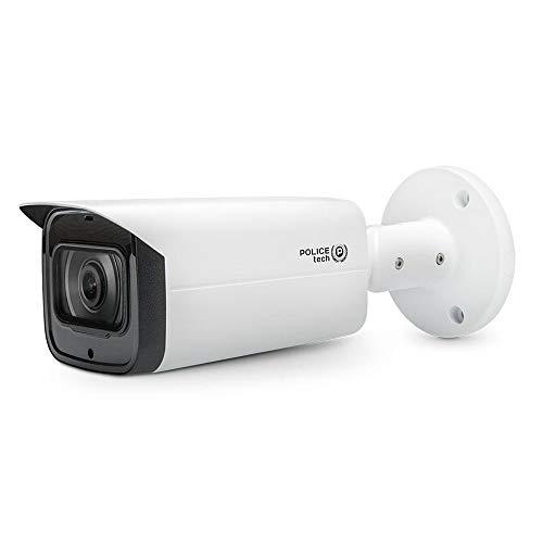 Videocamera Sorveglianza Esterno 4MP, Telecamera IP PoE, IR 80 metri, WDR 120db, IVS, HEVC/H.265+, IP67, Slot MicroSD, Visione Notturna a Colori, Accesso da Remoto con APP