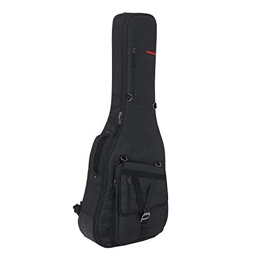 Bolsas De Guitarra Impermeables 2Cm Acolchado De Espuma Bolsa De Guitarra Eléctrica 40 41 Pulgadas Estuche De Nylon Con Correas De Hombro Para Guitarra Acústica Clásica Perfecta Para Viajar - Negro