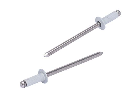 #43 White Alum Coated Aluminum Rivets (100pc) 1/8