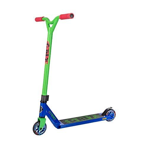 Grit Extremist Pro Stunt-Roller, verschiedene Farben, Kinder, blau / grün, Deck: 100mm x 483mm - Bar: 510mm Wide x 530mm High