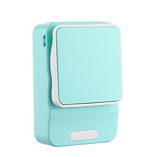 ventilador pequeño,Ventilador pequeño multifuncional para estudiantes perezosos con carga USB, cordón para soporte de cintura al aire libre mini ventilador-azul