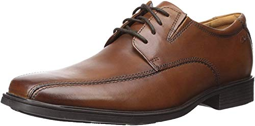 Clarks Men's Tilden Walk Oxford, Dark Tan Leather, 11 M US
