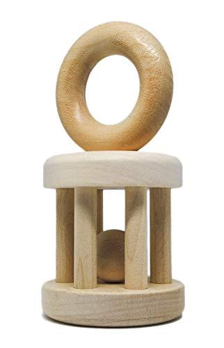 brandsplus Sonajero de madera de arce, juguete para niños pequeños, comercio justo y social, fabricado en Alemania