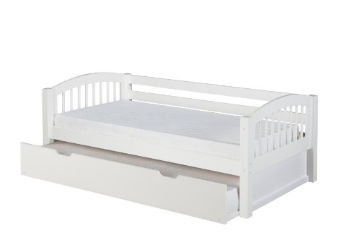 Camaflexi Day Bed, Wood, White, Twin