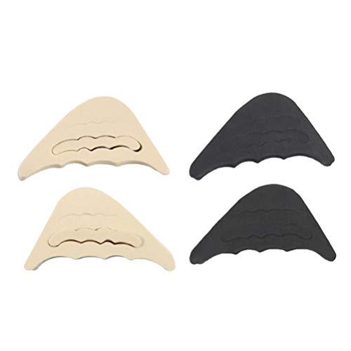 Hotop 6 Paires Coussinets de Coussin de Talon Poign/ées /à Talon Doublure Auto-Adh/ésif Semelles de Chaussure Protecteur de Soins des Pieds Marron, Kaki, Noir