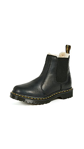 Dr. Martens Women's 2976 Leonore Fashion Boot, Black Burnished Wyoming, 8