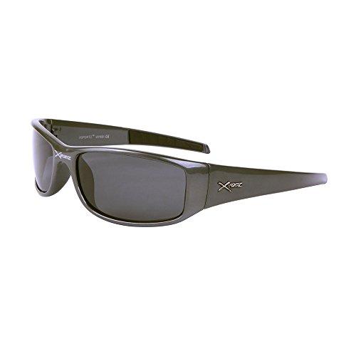 Lunettes de soleil polarisantes polarisées sport verres polarisés homme femme XS49 (monture beige marron verres gris, largeur:135mm hauteur:41mm)