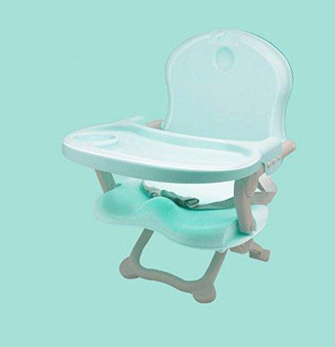 JBHURF Baby Hochstuhl Mehrzweck-Fütterung Stuhl Booster Portable Faltung Kinder Esszimmerstuhl - Blau, Rosa (Farbe : Blau, größe : Average code)