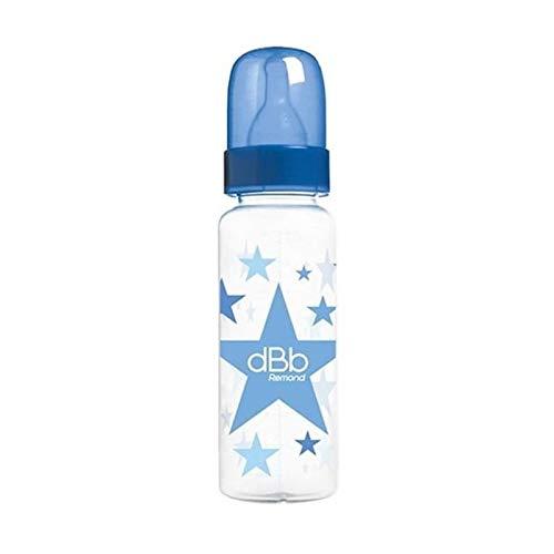 dBb Remond Biberon Polypropylène au Motif Étoiles Forme Cylindrique Bleu Bulle 270 ml