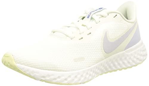 Nike Revolution 5, Zapatillas para Correr Mujer, Blanco Morado Lime, 39 EU