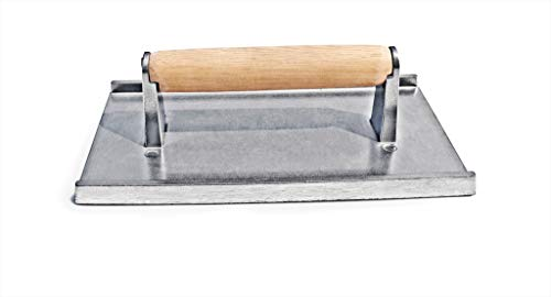 New Star Food Service 36411 Commercial Grade Aluminum Steak Weight/Bacon Press, 8.25 by 4.25-Inch
