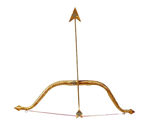 Indianartvilla designer ottone Bow & Arrow set | per arredamento, tempio, Ramleela, caccia giocattolo