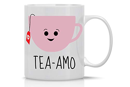 Tea Amo - Spanish I love You 11oz Fabulous Coffee Tea Mug Perfect for Women Funny Birthday Ideas for Her, Fiancee, Girlfriend, Wife, Mom Love you Mugs