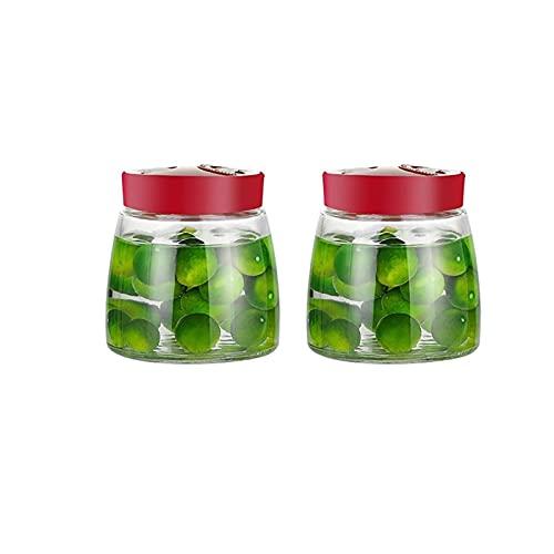 WXY-DE Contenitore ermetico per Alimenti, Barattolo per Alimenti, Serbatoio per sottaceti, per conservazione di Alimenti, Cibo Secco, Burro di Arachidi, Miele e marmellata (Color : 2pcs, Size : 100