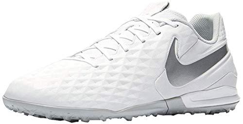 Nike Tiempo Legend 8 Academy Tf, Scarpe da Calcio Uomo, Bianco (White/Chrome/Pure Platinum 100), 40.5 EU