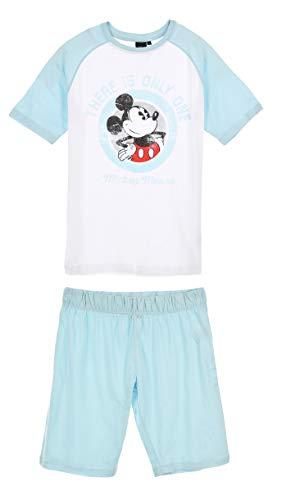 Mickey Mouse Herren Kurz Pyjama Schlafanzug