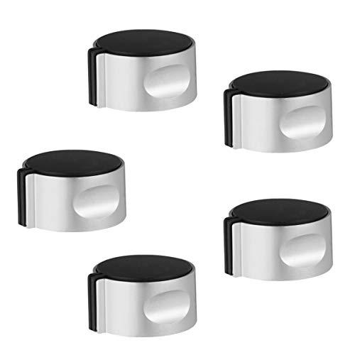 Holibanna 5 Piezas Perillas de Metal para Estufa de Gas Perillas de Control para Cocina Adaptadores Interruptor de Encendido para Horno Cerraduras de Control de Cocina para El Reemplazo de