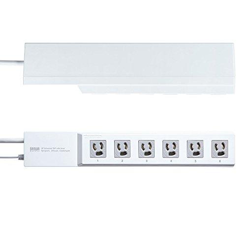 サンワサプライタイマー付きタップ3P・6個口TAP-RT1