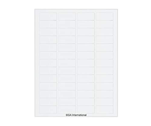 透明リムーバブル低温ラベル(レーザープリンタータイプ) 52ラベル×16シート入 TRCL-8 /3-8730-05