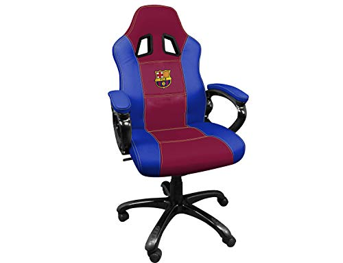 FCB FC Barcelona Silla gaming - Sillón gamer de oficina accesorio PS4, Xbox One, PC