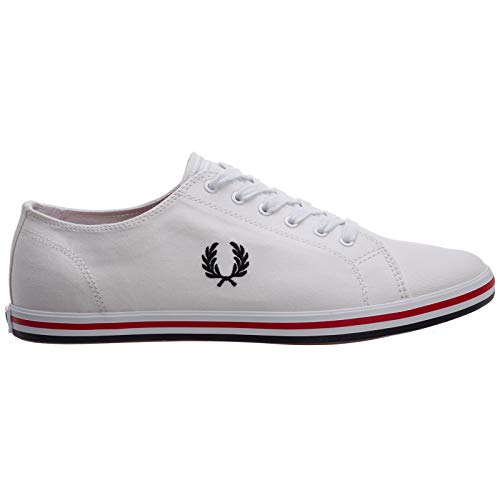 Fred Perry Men Kingston Sneakers Bianco 11 US