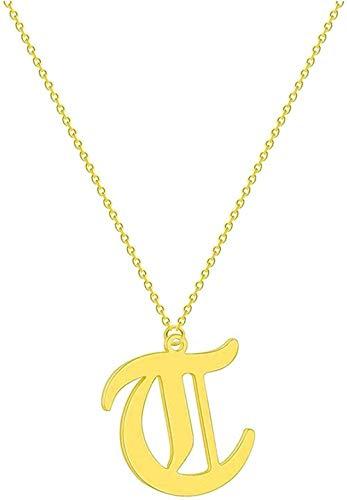 ZQMC Collar Carta Collar de Pareja Hombres Mujeres Nombre Inicial Joyería de Acero Inoxidable Oro Rosa Oro étnico Amistad Collares Regalo