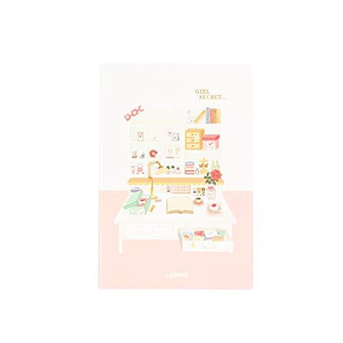 hsj Tidy Creative Student - Cuaderno de notas con planes de eficiencia de poliuretano (formato A5, tamaño simple, suave, de piel suave, ordenado)