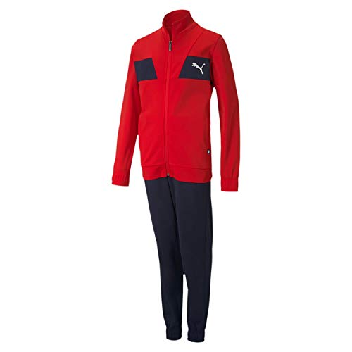PUMA Jungen Poly Suit cl B Trainingsanzug, rot, 3-4Y