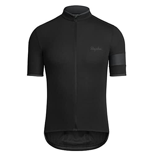 Maillot Ciclismo Hombre, Manga Corta Camiseta, Tops Ciclismo Bicicleta Bici Transpirable Secado Rápido Reflectante Jersey (B,S)