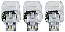 Telephone Cord Detangler 3 Pack - 360 Degree Rotating - Clear - Phone Cord Detangler Master Cables Product