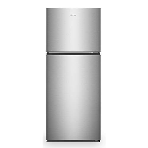 Hisense RT488N4DC2 Réfrigérateur double porte libre installation Total No Frost, classe énergétique A++ et système de ventilation Multi Air Flow, largeur 70 cm, couleur inox, capacité nette 375 L