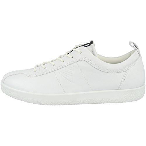 Ecco Damen SOFT1W Sneaker, Grau (White 1007), 38 EU