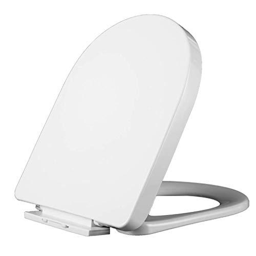 ZHUYUE Duurzame CHNZQ wc-hoes, accessoires plastic scharnier PP plaat wc-hoes, universeel wc-bril kussen kant U-vormig ontwerp wc-hoezen (Maat: A)