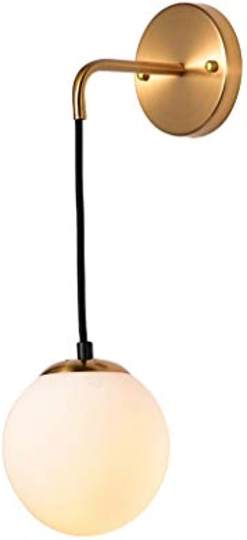 @Wandleuchte Wandleuchten E27 Schmiedeeisen Glaskugel Wohnzimmer Schlafzimmer Bedside Studie Wandleuchte Wandlampe