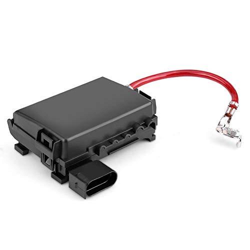 Caja de fusibles del coche, caja de fusibles de la batería Terminal del portafusibles del coche para Bora MK4 1999-2004