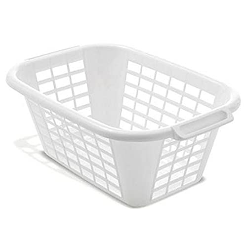 Addis 510610 Rectangular Laundry Basket in White
