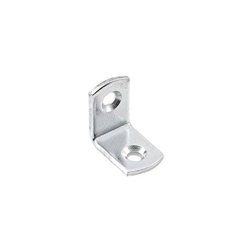 Hilber Winkel Winkelverbinder, L 25x25 mm, B 13 mm, 90 Grad, verzinkt, Verbindungswinkel für Holz, Möbel, und Metall, Befestigungswinkel