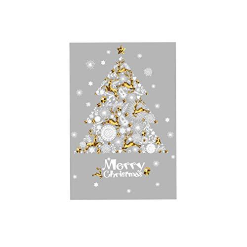 BESTOYARD Vinilos de Navidad para Ventana de árbol de Navidad Vinilos de Pared para Dormitorio Infantil Pegatinas de Navidad Adornos para Ventanas Pared
