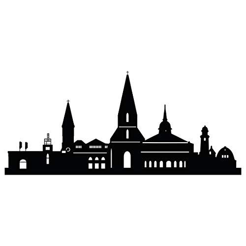 Wandtattoo Skyline Kiel - Größe: M - 100cm x 44cm - 23 mögliche Farben