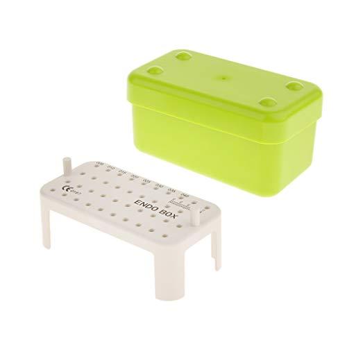 Almencla Dental Endo Box Autoklav Instrument Aufbewahrungsorganisator Grün